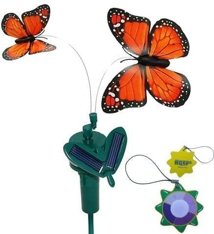 Papillon et libellule à énergie solaire