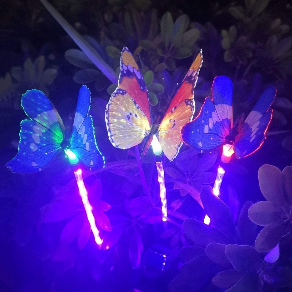 lampes solaires papillons